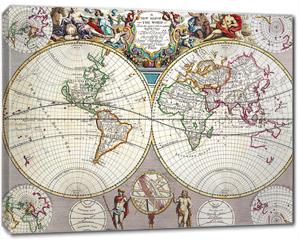 Obraz na płótnie canvas - old map