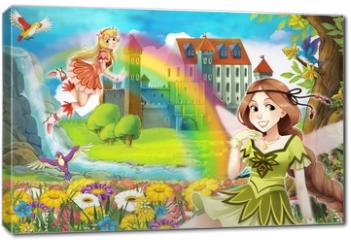 Obraz na płótnie canvas - The fairy - Beautiful Manga Girl - illustration