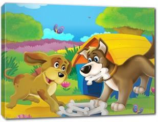 Obraz na płótnie canvas - The life on the farm - illustration for the children