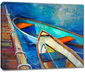 Obraz na płótnie canvas - Boats and pier