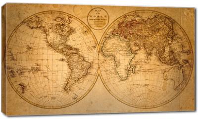 Obraz na płótnie canvas - old map 1799