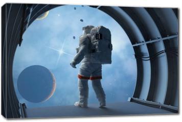 Obraz na płótnie canvas - Astronaut in the tunnels