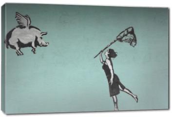 Obraz na płótnie canvas - fliegende schweine