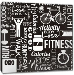Obraz na płótnie canvas - fitness vector