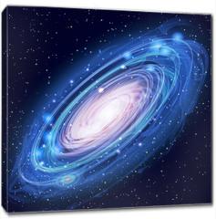 Obraz na płótnie canvas - Beautiful Glowing Vector Andromeda Galaxy