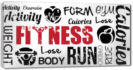 Obraz na płótnie canvas - fitness