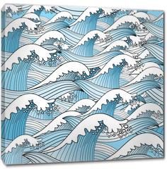 Obraz na płótnie canvas - texture of sea waves