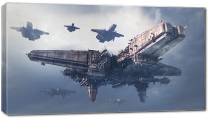 Obraz na płótnie canvas - 3d UFO
