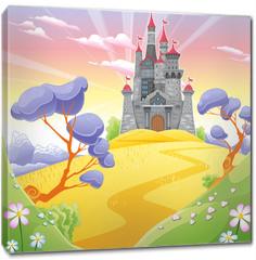 Obraz na płótnie canvas - Landscape with tower.
