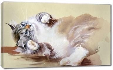 Obraz na płótnie canvas - Watercolor Animal Collection: Cat