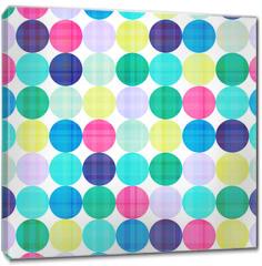 Obraz na płótnie canvas - seamless circles background texture