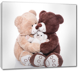 Obraz na płótnie canvas - Teddybären - Familie mit Mutter, Vater und Kind