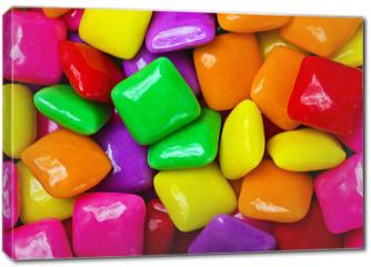 Obraz na płótnie canvas - colorful gum background