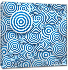 Obraz na płótnie canvas - Circles of different sizes with drop shadows