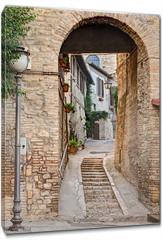 Obraz na płótnie canvas - ancient alley in Bevagna, Italy