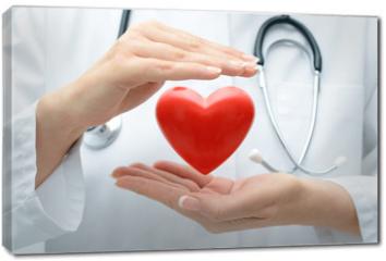 Obraz na płótnie canvas - Doctor holding heart