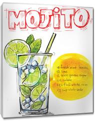 Obraz na płótnie canvas - vector mojito