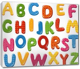 Obraz na płótnie canvas - Colorful alphabet letters