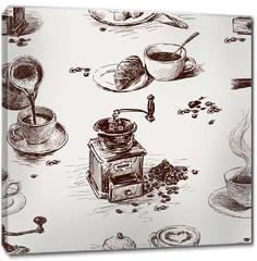 Obraz na płótnie canvas - pattern of coffee