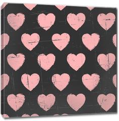 Obraz na płótnie canvas - Chalkboard Hearts Pattern