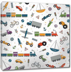 Obraz na płótnie canvas - traffic elements pattern on white background