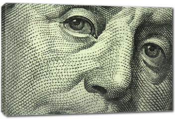 Obraz na płótnie canvas - one hundred dollar bill closeup