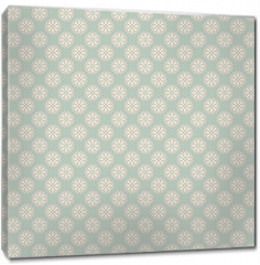 Obraz na płótnie canvas - Floral vector seamless pattern with dots (tiling).