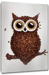 Obraz na płótnie canvas - Coffee owl.