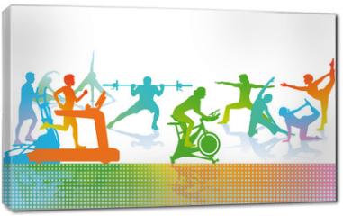 Obraz na płótnie canvas - Fitness und Sport