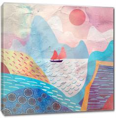 Obraz na płótnie canvas - water landscape