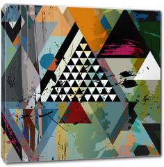 Obraz na płótnie canvas - abstract art illustration, triangles,vector format