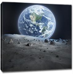 Obraz na płótnie canvas - Earth seen from the moon.