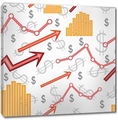 Obraz na płótnie canvas - Business diagram. Seamless vector wallpaper