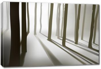Obraz na płótnie canvas - mysterious forest