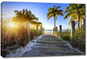 Obraz na płótnie canvas - way to the beach