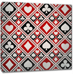 Obraz na płótnie canvas - Seamless background playing card suits