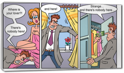 Obraz na płótnie canvas - Adult comics strip 1