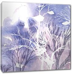 Obraz na płótnie canvas - Abstract silhouette of trees
