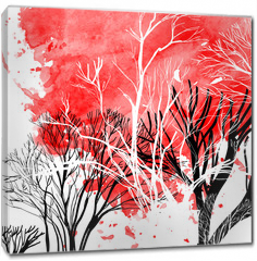Obraz na płótnie canvas - Abstract silhouette of trees