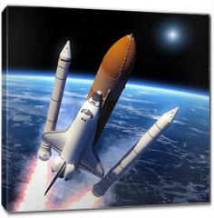 Obraz na płótnie canvas - Space Shuttle Solid Rocket Boosters Separation
