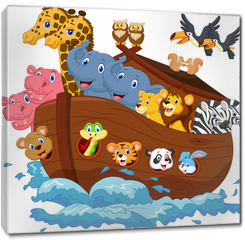 Obraz na płótnie canvas - Noah's Ark cartoon