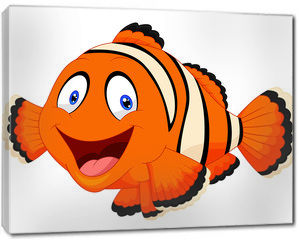 Obraz na płótnie canvas - Cute clown fish cartoon