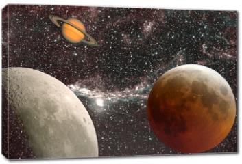 Obraz na płótnie canvas - leçon d'astronomie, les planètes
