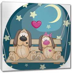 Obraz na płótnie canvas - Lovers Dogs