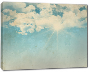 Obraz na płótnie canvas - Grunge background of a sunny blue sky