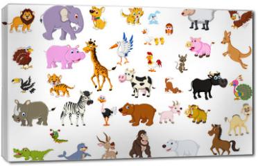 Obraz na płótnie canvas - big animal set for you design