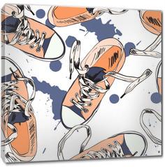 Obraz na płótnie canvas - Gumshoes seamless pattern