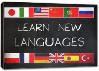 Obraz na płótnie canvas - Learn new languages