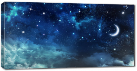Obraz na płótnie canvas - beautiful background, nightly sky