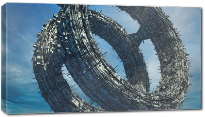 Obraz na płótnie canvas - SCIFI UFO